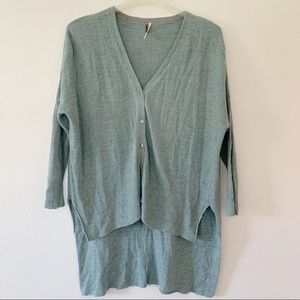 Free People oversized high low cardigan